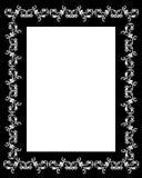 Blanco decorativo del negro del capítulo Imágenes de archivo libres de regalías