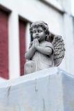 Blanco del ángel de guarda Fotografía de archivo