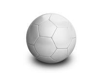 Blanco del balompié del balón de fútbol Imagen de archivo libre de regalías