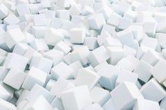 Blanco del gomaespuma Fotografía de archivo