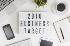 Blanco 2016 del negocio Fotografía de archivo libre de regalías