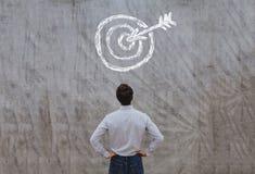 Blanco del negocio, concepto del éxito, plan ambicioso imagen de archivo libre de regalías