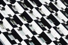 Blanco del negro de la casa de Kiev del edificio del dominó del color imágenes de archivo libres de regalías
