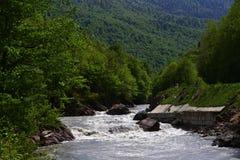 Blanco del río Imagen de archivo libre de regalías