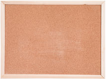 Blanco del tablero del corcho aislado Imagen de archivo libre de regalías