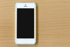 Blanco del teléfono móvil Fotografía de archivo