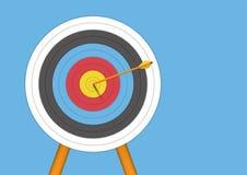 Blanco del tiro al arco con una flecha Imagen de archivo libre de regalías