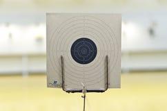 Blanco del tiroteo del arma fotografía de archivo