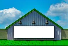 Blanco del verde del anuncio de la cartelera de la muestra del negocio Fotografía de archivo