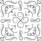 Blanco dibujado mano del negro del ornamento Fotografía de archivo libre de regalías