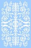 Blanco en raya culed azul stock de ilustración