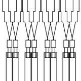 Blanco exótico del negro de los ornamentos del diseño Fotografía de archivo