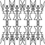 Blanco exótico del negro de los ornamentos del diseño Imagen de archivo libre de regalías