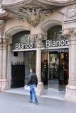 Blanco fashion store Stock Image