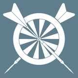 Blanco, flechas para los dardos Se divierte tema libre illustration