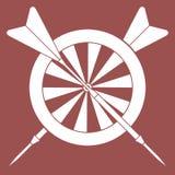 Blanco, flechas para los dardos Se divierte tema ilustración del vector