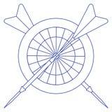 Blanco, flechas para los dardos Se divierte tema stock de ilustración