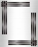 Blanco formal del negro del modelo de la invitación Imágenes de archivo libres de regalías