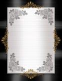 Blanco formal del negro del modelo de la invitación Fotografía de archivo libre de regalías