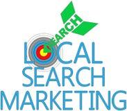 Blanco local SEO del márketing de la búsqueda libre illustration