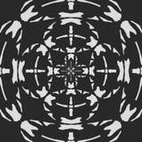 Blanco Modelo blanco y negro regular de la cortina alineado en huevos Ejemplo rico de semitono del modelo Negro y wh abstractos d libre illustration