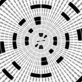 Blanco Modelo blanco y negro regular de la cortina alineado en huevos Ejemplo rico de semitono del modelo Negro y wh abstractos d stock de ilustración