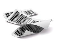 Blanco multicolor de la escritura de la etiqueta de la etiqueta engomada de los códigos de barras Fotografía de archivo