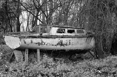 Blanco negro de la nave Fotos de archivo libres de regalías