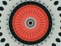 Blanco negro rojo del caleidoscopio imagen de archivo libre de regalías