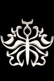 Blanco ornamental de la forma de la mariposa Foto de archivo libre de regalías