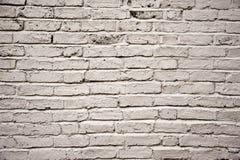 Blanco pintado envejecido fuera de textura de la pared de ladrillo Foto de archivo