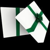 Blanco rendido presente con el arqueamiento verde ilustración del vector