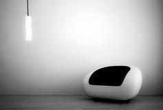 Blanco Seater de las cortinas de la obra clásica Fotografía de archivo
