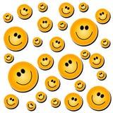 Blanco sonriente del fondo de la cara Imagenes de archivo