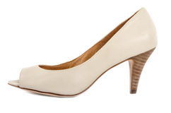 Blanco Toe Shoes abierto #3 del hueso Imagen de archivo libre de regalías
