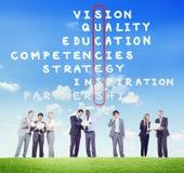 Blanco Victory Strategy Vision Concept de la meta del éxito Imagenes de archivo