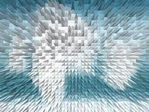 Blanco y bomba azul de la onda Fotografía de archivo