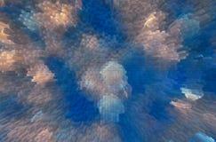 Blanco y círculos borrosos azul Imagen de archivo