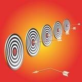 Blanco y flechas Imagen de archivo libre de regalías