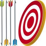 Blanco y flechas stock de ilustración