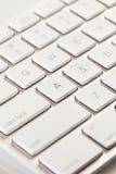 Blanco y Grey Computer Keyboard Fotografía de archivo libre de regalías