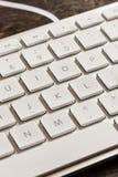 Blanco y Grey Computer Keyboard Fotografía de archivo