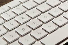 Blanco y Grey Computer Keyboard Imagen de archivo libre de regalías