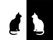 Blanco y negro ilustración del vector