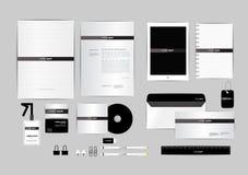 Blanco y negro con la plantilla de la identidad corporativa del triángulo para su negocio Fotos de archivo