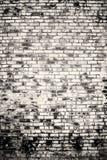 Blanco y negro de la pared de ladrillo vieja del vintage Fotografía de archivo