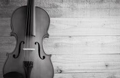 Blanco y negro del violín Fotos de archivo libres de regalías