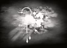 Blanco y negro en el cielo Imagen de archivo