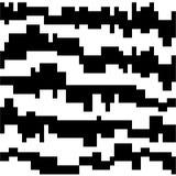 Blanco y negro - modelo abstracto Stock de ilustración