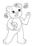 Blanco y negro - oso Fotografía de archivo libre de regalías